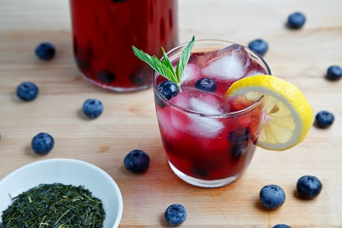 Blueberry Iced Green Tea 500 6487