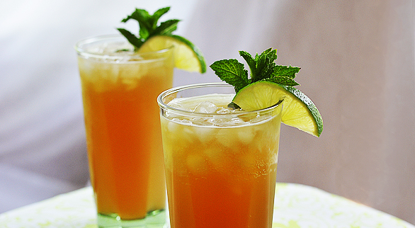 Bubbly Mint Lime Iced Tea
