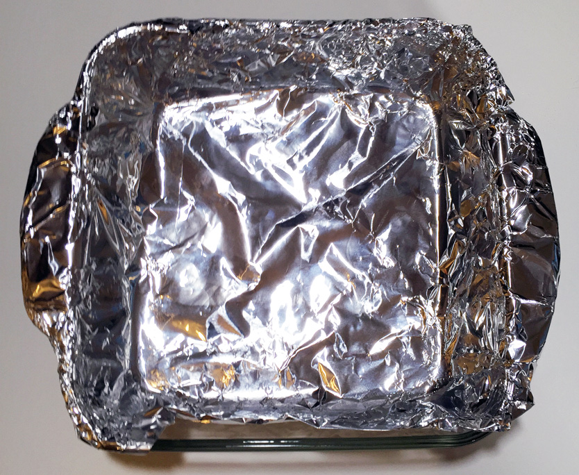 Foil lined tray