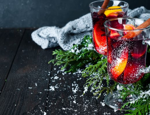 Christmas Non-Alcoholic Mulled Wine Tea Cocktail Recipe